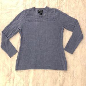 Cynthia Rowley XL merino wool light blue sweater